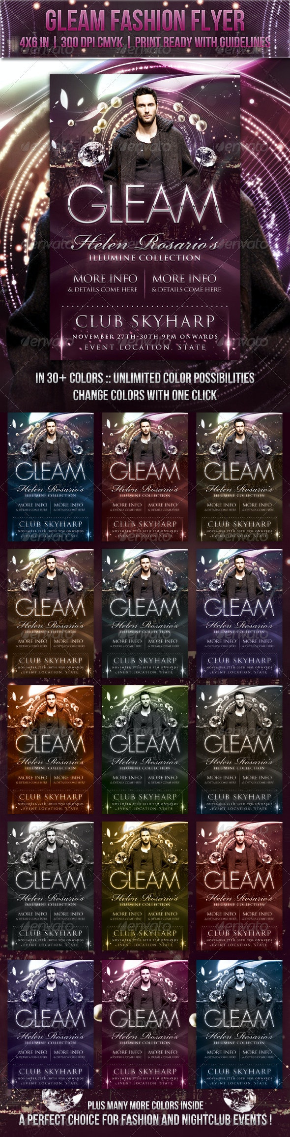 Gleam Fashion Flyer - Clubs & Parties Events