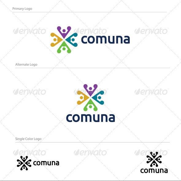 Comuna Abstract Logo Design - ABS-035