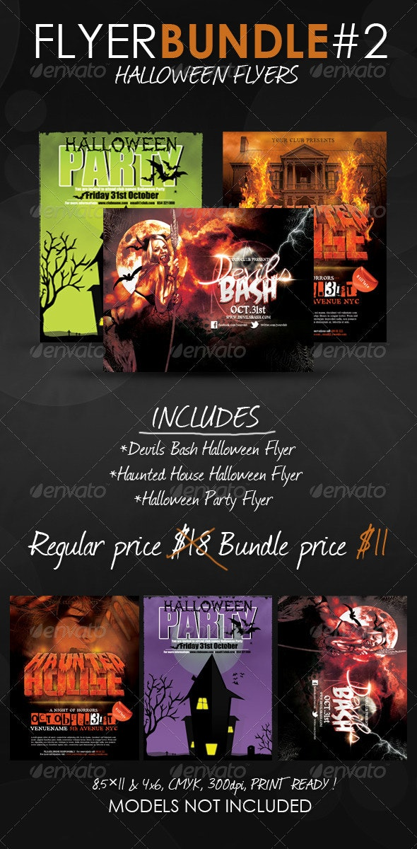 Halloween Flyer Templates Bundle - Events Flyers