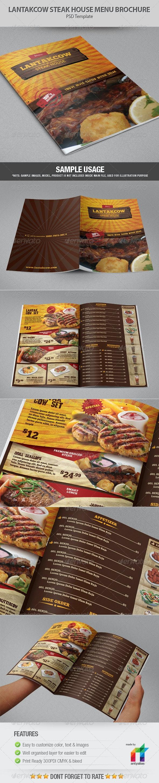 Lantakcow Steak House Menu Brochure - Catalogs Brochures