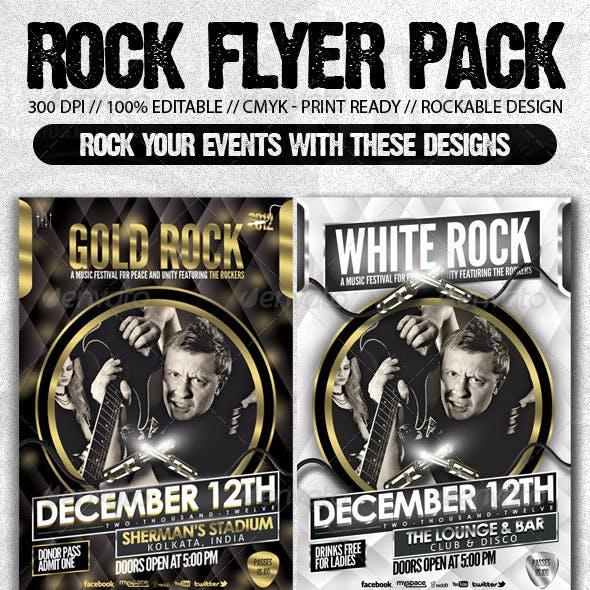 Rock Music Show Flyer Bundle Pack#2