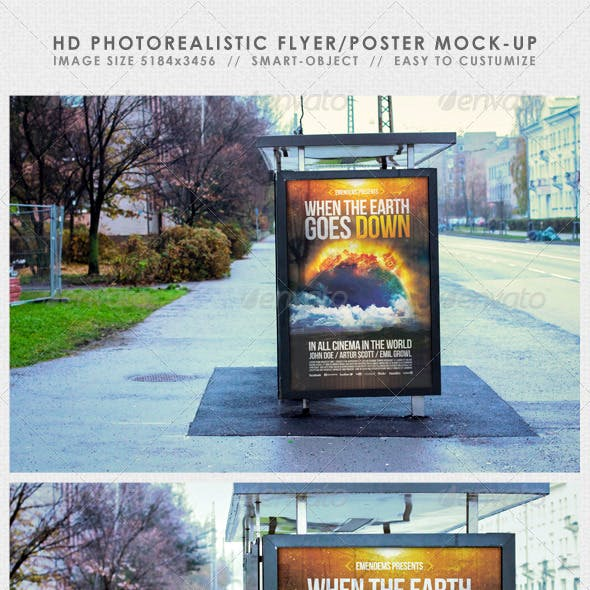 HD Realistic Flyer/Poster Mock-Up