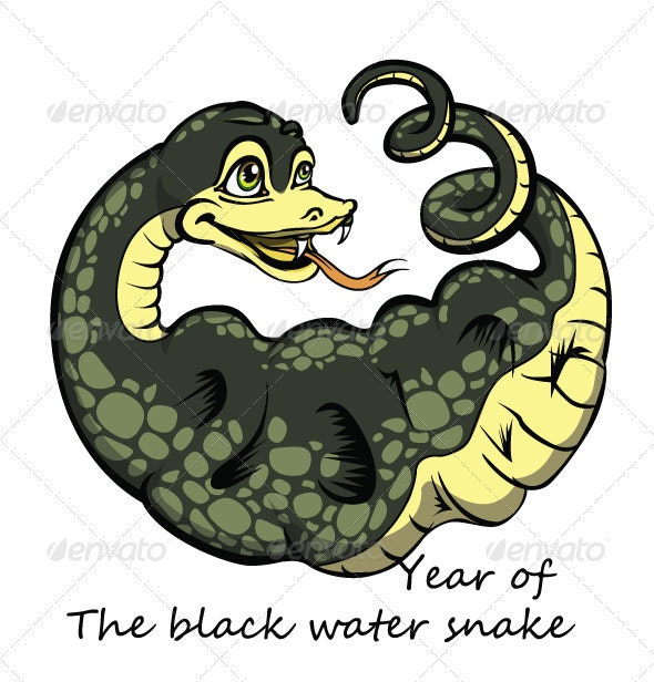 Year of the Black Water Snake - Animals Characters