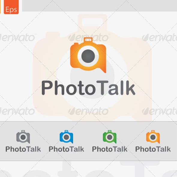 PhotoTalk Logo Design