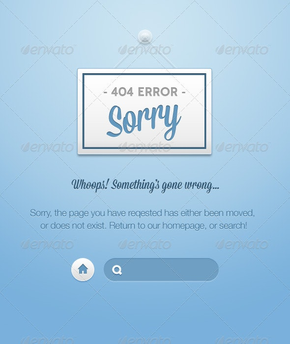 Nice 404's - 404 Pages Web Elements