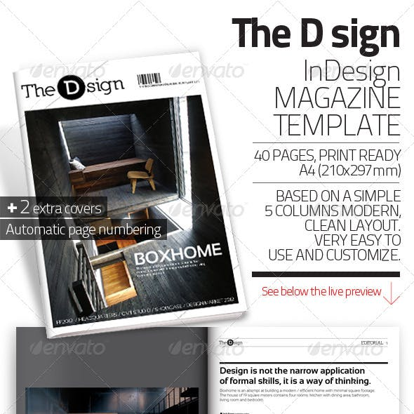 The D sign Magazine Template