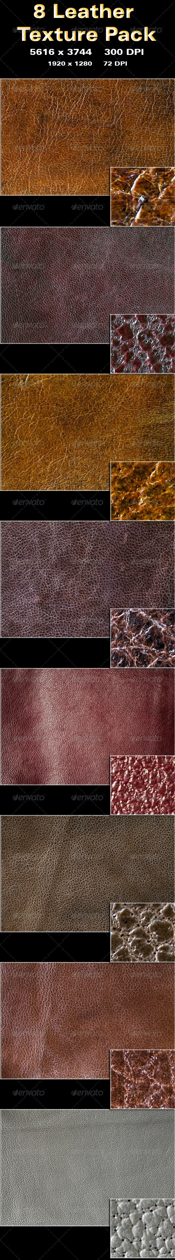 8 Leather Texture Pack - Fabric Textures