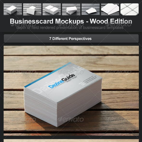 Businesscard Mockups - Wood Edition