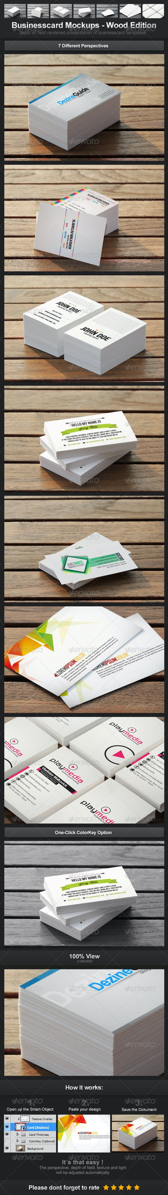 Businesscard Mockups - Wood Edition - Business Cards Print