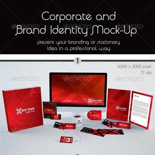 Corporate and Stationery Brand Mock-Up