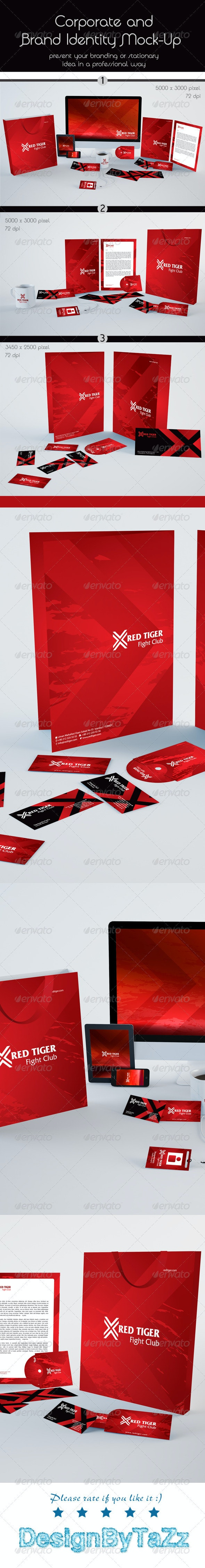 Corporate and Stationery Brand Mock-Up - Stationery Print