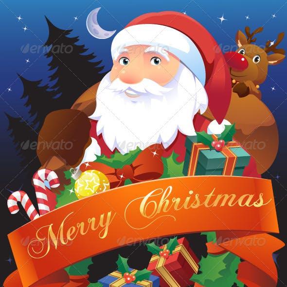 Christmas Illustration for Card, Flier or Poster
