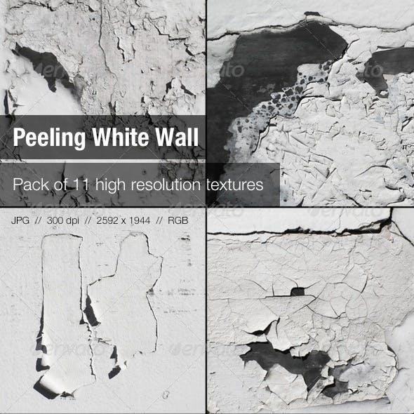11 Peeling White Wall Textures