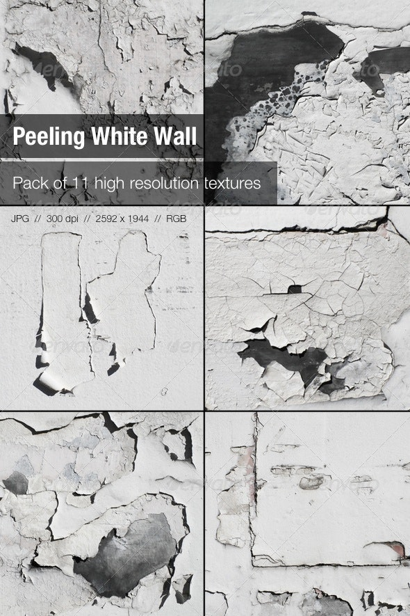 11 Peeling White Wall Textures - Concrete Textures