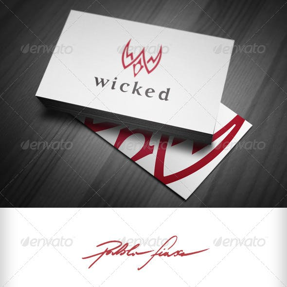 Wicked - Letter W - Flying Bird - Phoenix Logo