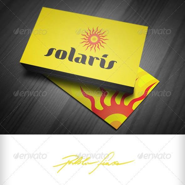 Solaris - Solar Energy - Abstract Sun Logo