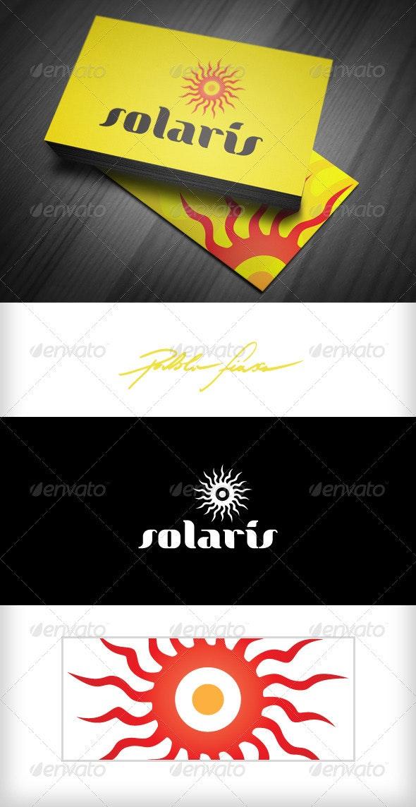 Solaris - Solar Energy - Abstract Sun Logo - Symbols Logo Templates