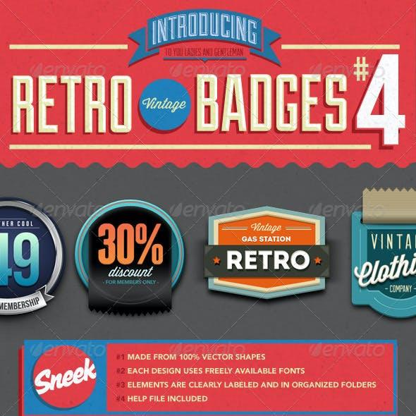 8 Retro Vintage Badges #4