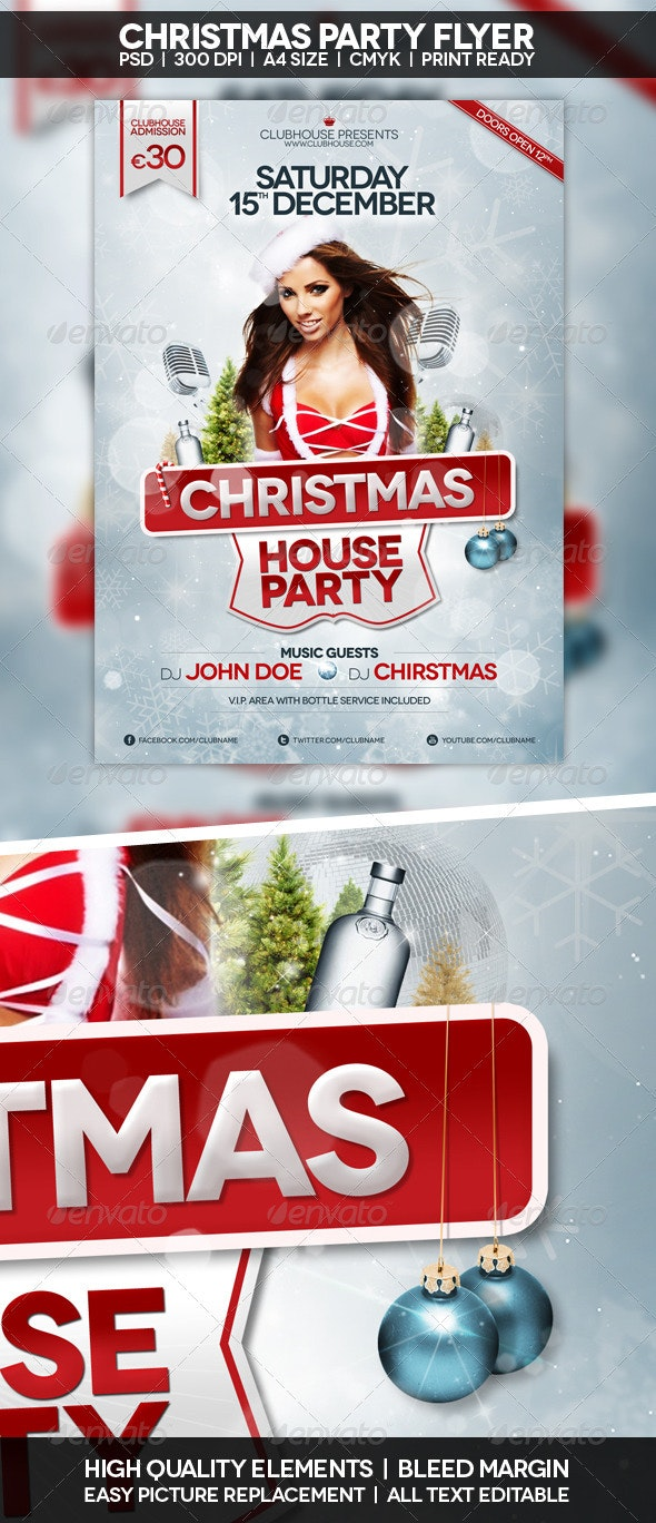 Christmas Flyer | Poster - Holidays Events