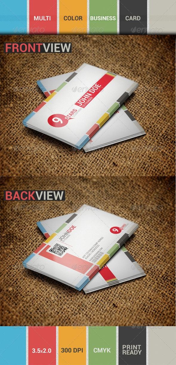 Multi-Color Business card - Creative Business Cards