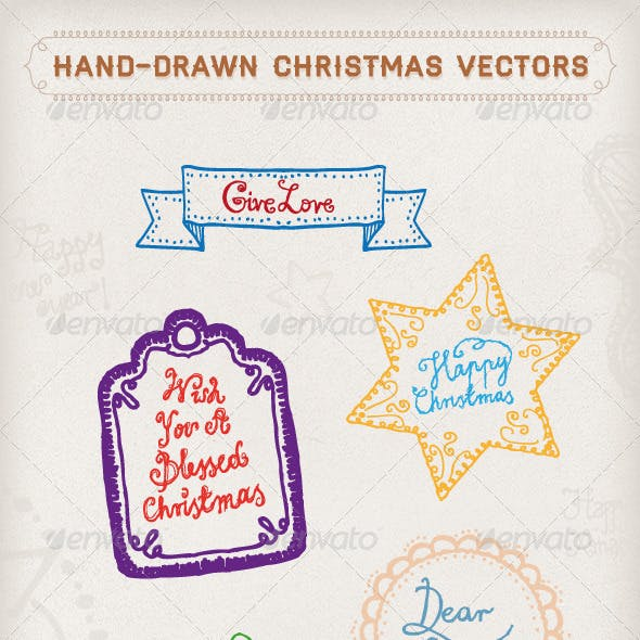 Hand-Drawn Christmas Vectors