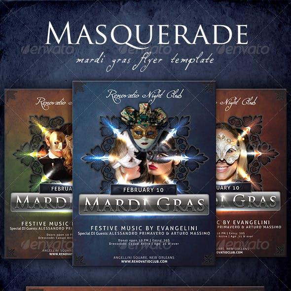 Masquerade - Mardi Gras Flyer Template
