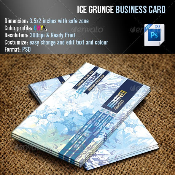 Ice Grunge Business Card