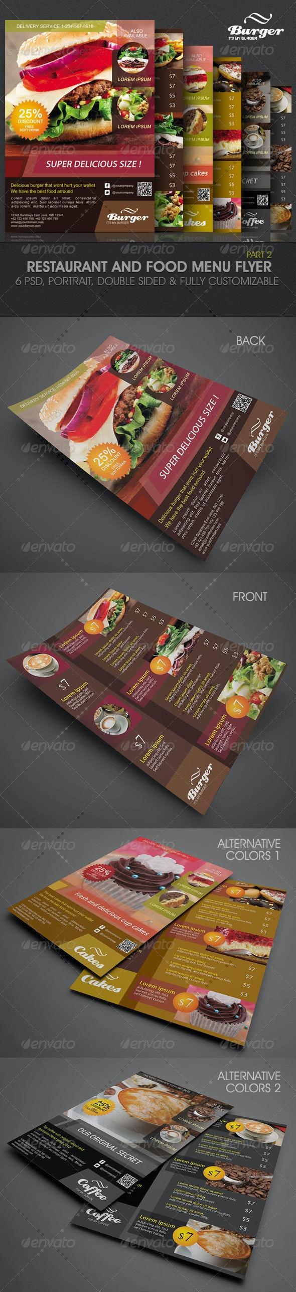 Restaurant and Food Menu Flyer - Food Menus Print Templates