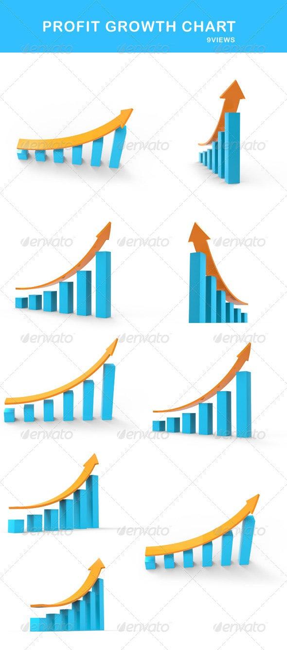 Profit Growth Chart - Miscellaneous 3D Renders