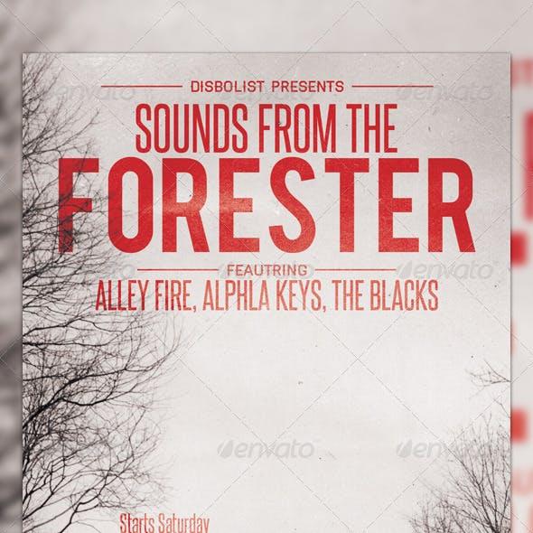 Forester Flyer Template Design