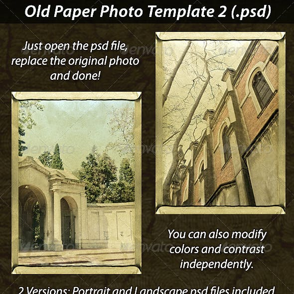 Old Paper Photo Template 2