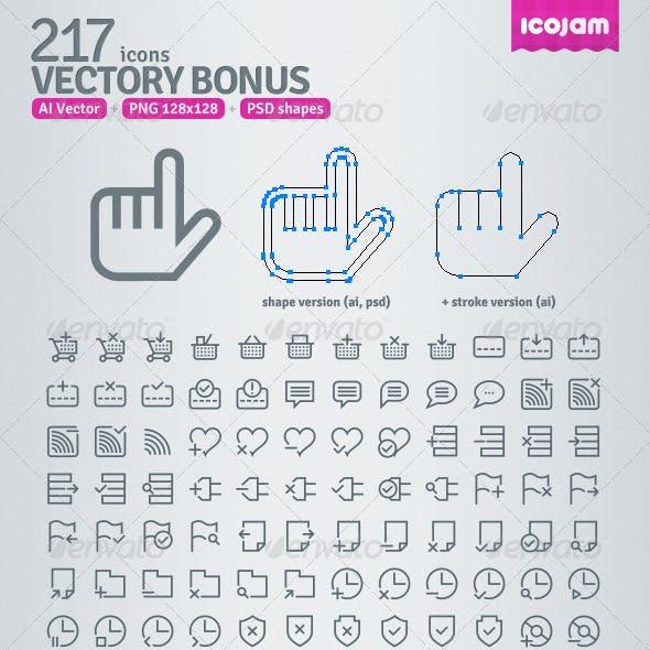 217 AI and PSD Bonus Outline Icons