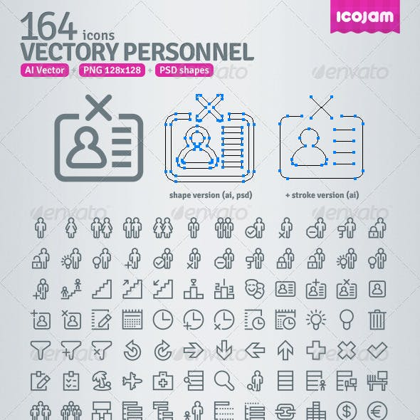 164 AI and PSD Personnel Outline Icons