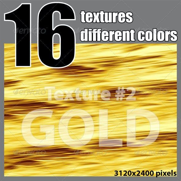 16 Textures of Metallic Hues