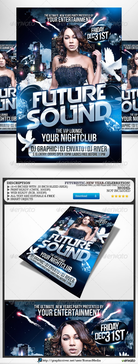 Club Sessions l Future Sound Party Flyer - Clubs & Parties Events