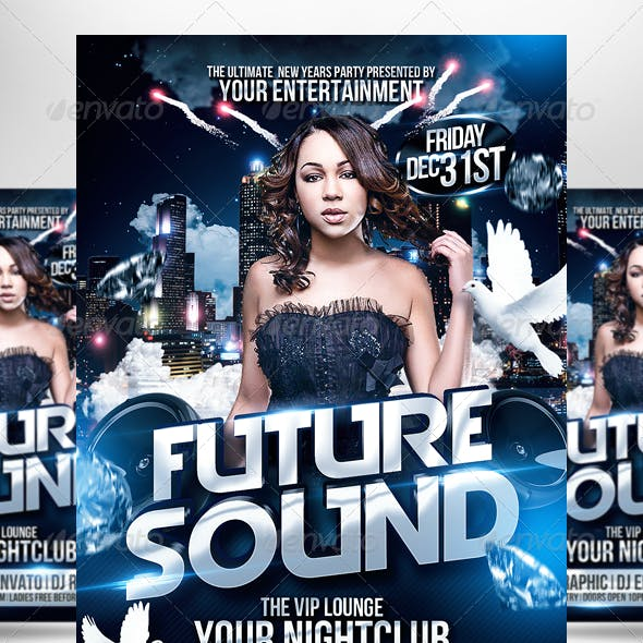 Club Sessions l Future Sound Party Flyer