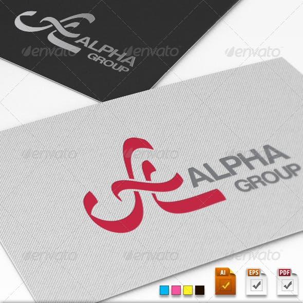 Alpha Group Logo Template