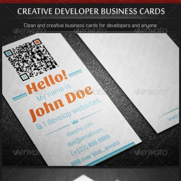 Creative Developer Business Cards