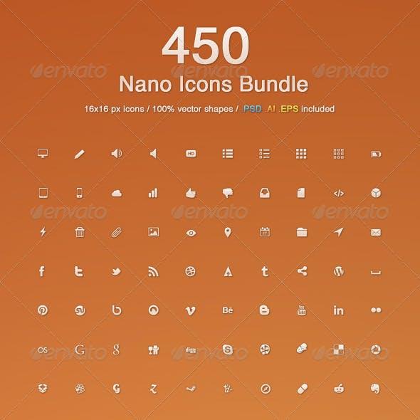 450 Nano Icons Bundle