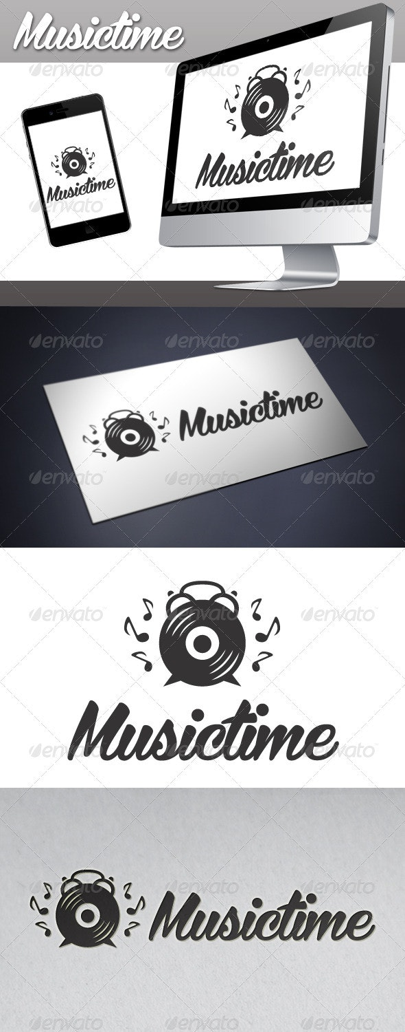 Music Time Logo - Objects Logo Templates