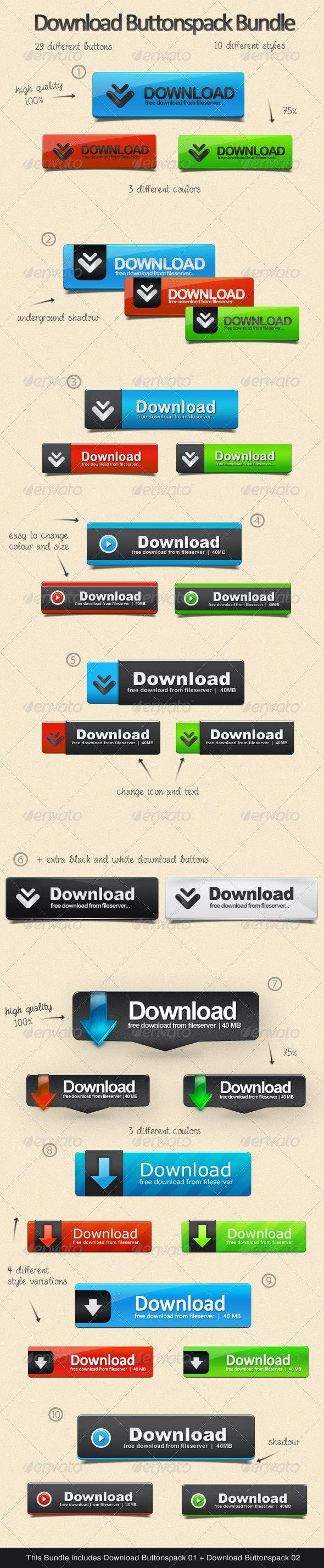 Download Buttonspack Bundle - Buttons Web Elements