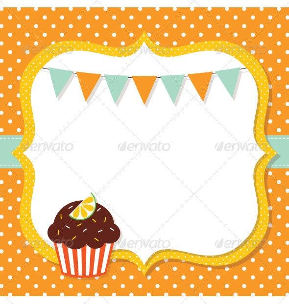 Birthday Card with a Cupcake - Birthdays Seasons/Holidays
