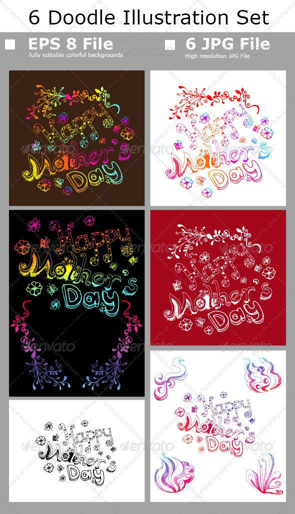 Happy Mother's Day Set - Miscellaneous Seasons/Holidays