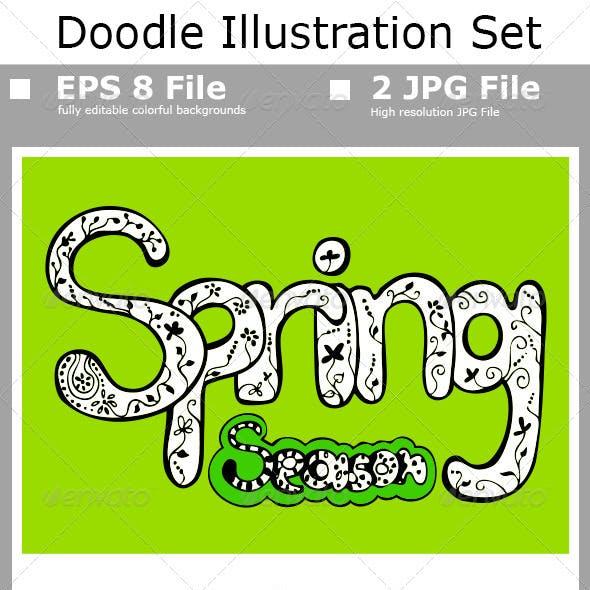 Spring Illustration Set