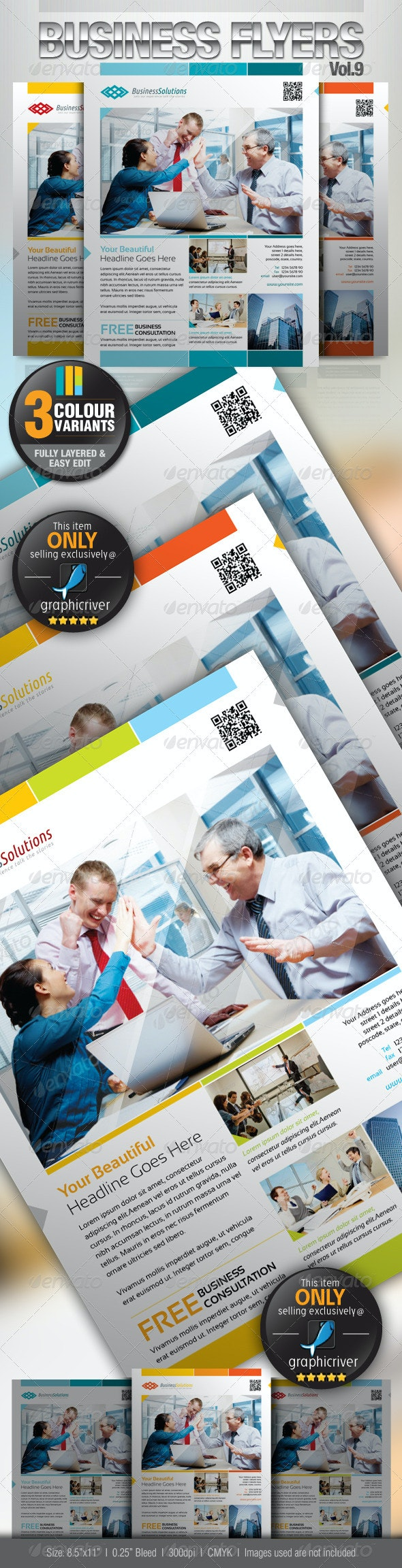 Simple & Clean Corporate Flyer Vol.9 - Corporate Flyers