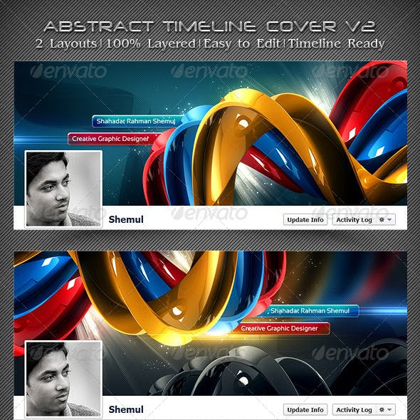 Abstract Timeline Cover V2