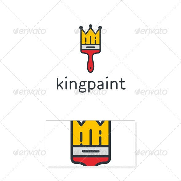 King Paint Logo Template