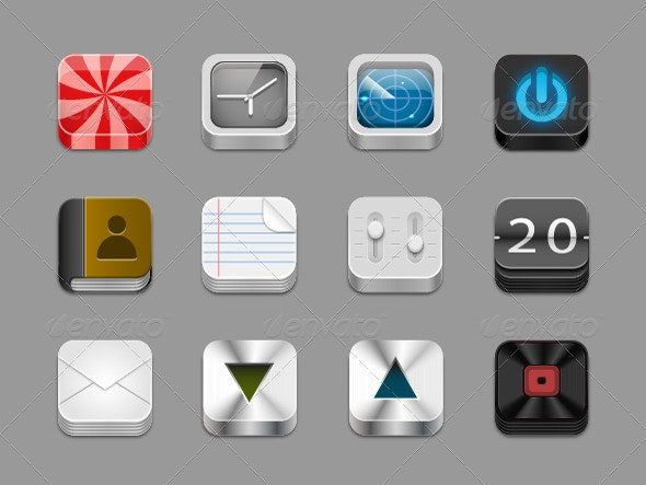 App Icons - Technology Conceptual