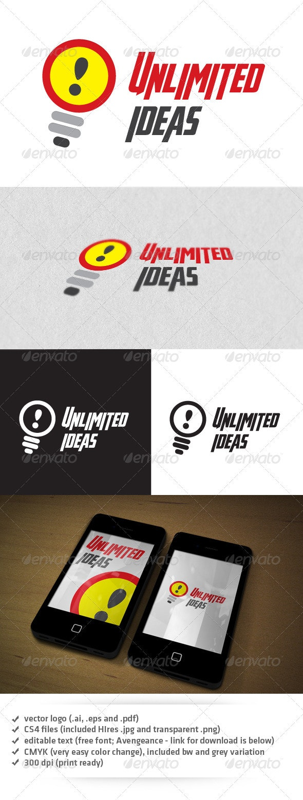 Unlimited Ideas Logo - Vector Abstract