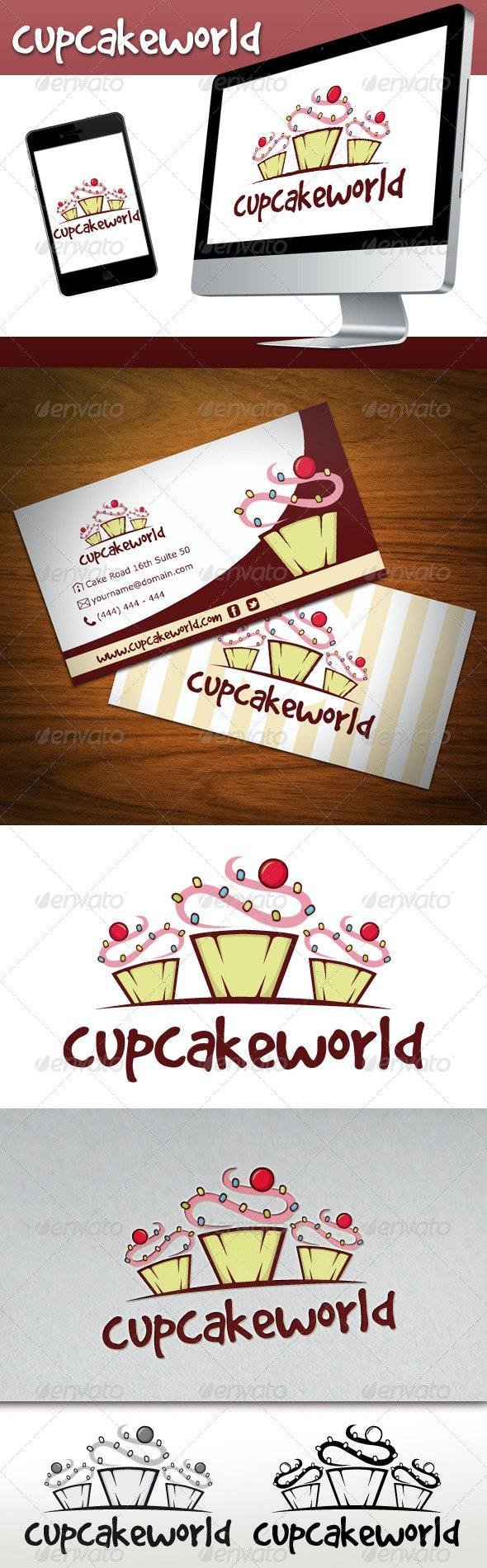 Cupcake Logo - Food Logo Templates